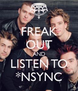 My NSYNC playlist is on blast right about now... all day erryday ;)