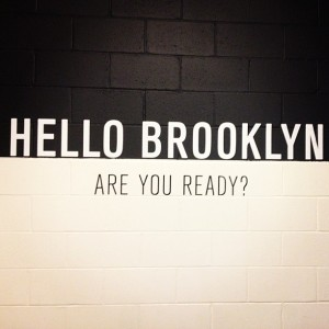 "Justin Tweeted this picture prior to the show adding ""Brooklyn, u ready?!?"""
