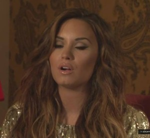 demi gold tone hair and makeup