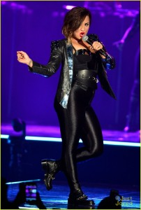 Demi Lovato performs live