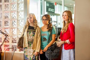 (From left to right) Britt Irvin, Jessica Parker Kennedy and Danielle Panabaker play three best friends who must decide if they will make their nearly-marriages into real ones.