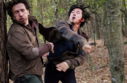 Michael Traynor as Nicholas and Steven Yeun as Glenn Rhee - The Walking Dead _ Season 5, Episode 16 - Photo Credit: Gene Page/AMC