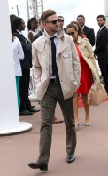 Justin Timberlake walking along the Promenade de la Croisette
