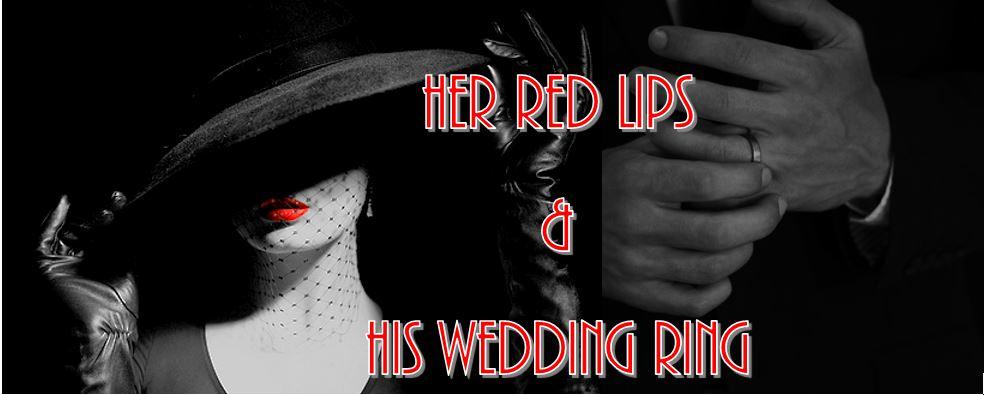 red lips wedding ring
