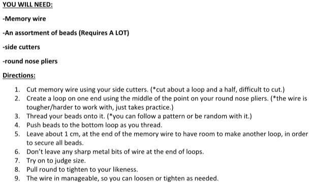 jewelry making mem wire