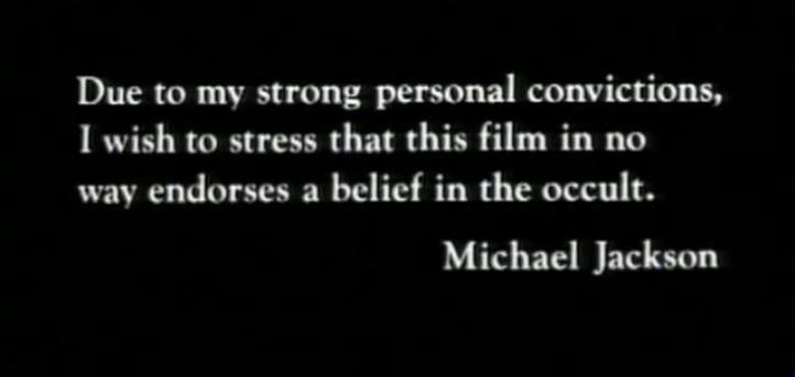 MJ thriller message
